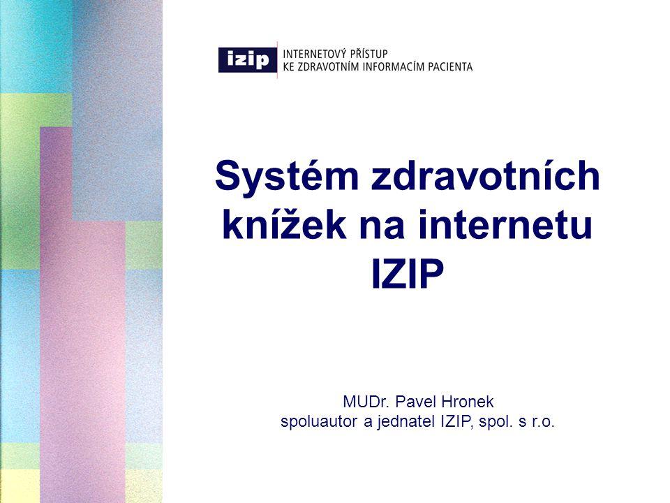 Systém zdravotních knížek na internetu IZIP