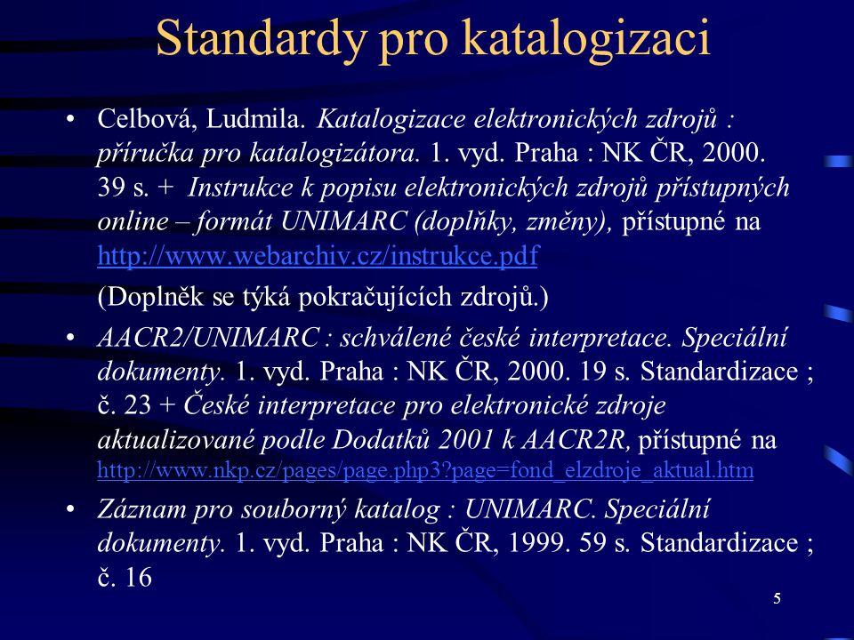 Standardy pro katalogizaci