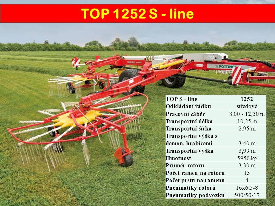 TOP 1252 S - line TOP S - line 1252 Odkládání řádku středové