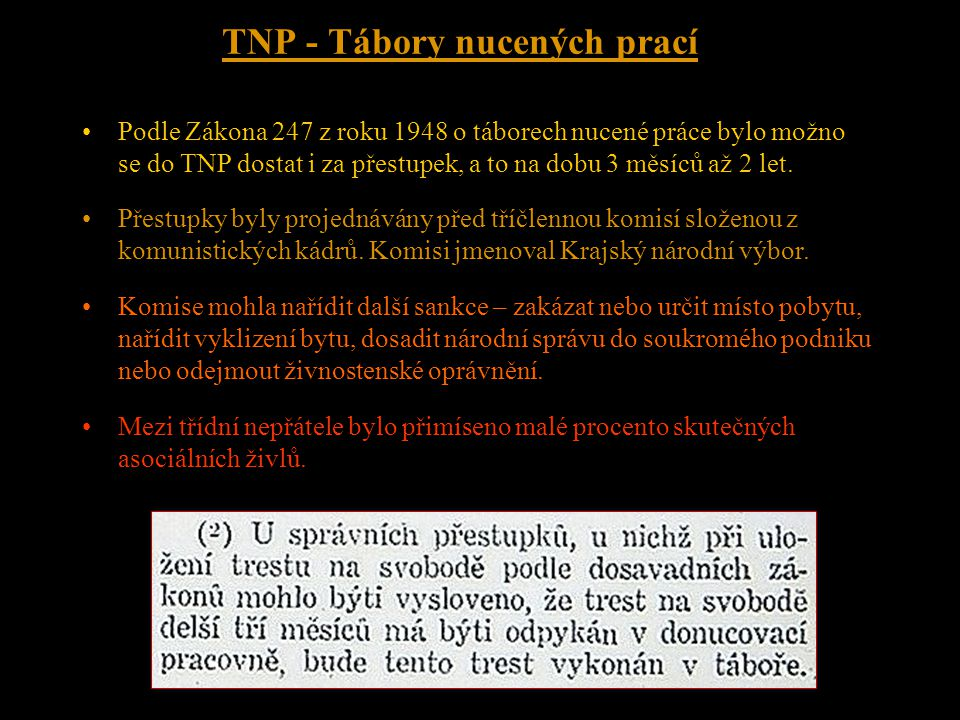 TNP - Tábory nucených prací