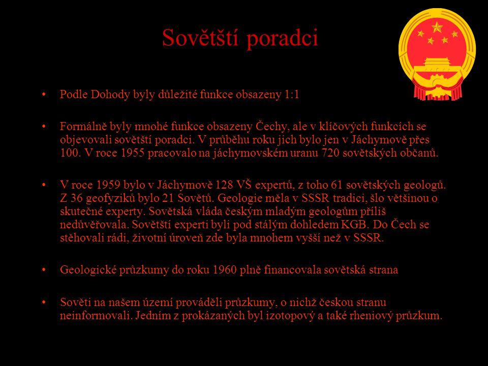 Sovětští poradci Podle Dohody byly důležité funkce obsazeny 1:1