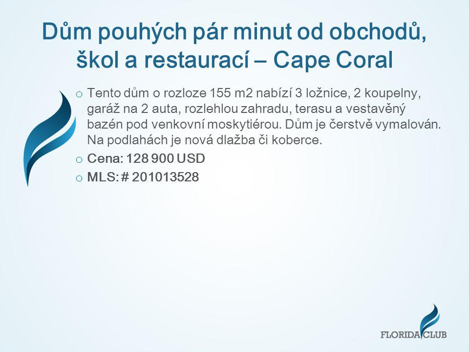 Dům pouhých pár minut od obchodů, škol a restaurací – Cape Coral