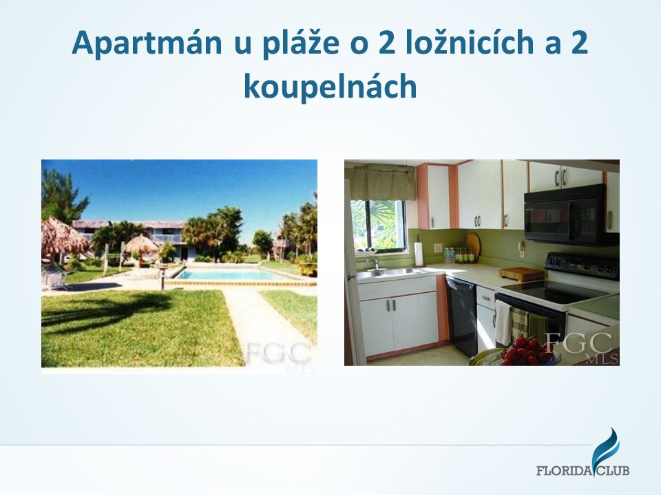 Apartmán u pláže o 2 ložnicích a 2 koupelnách