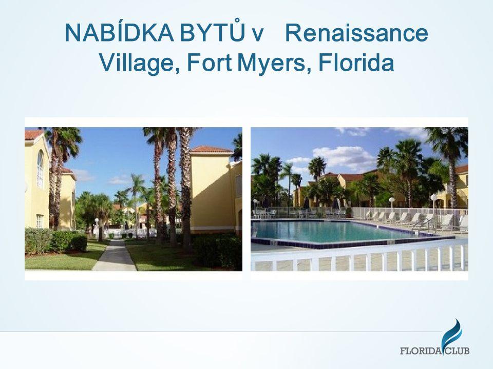 NABÍDKA BYTŮ v Renaissance Village, Fort Myers, Florida
