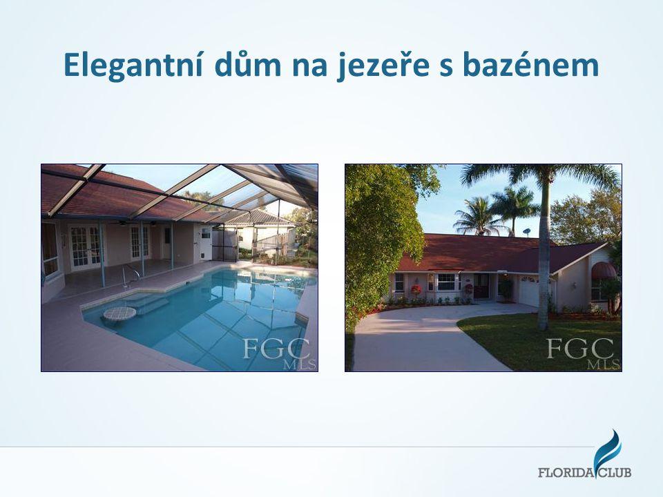 Elegantní dům na jezeře s bazénem