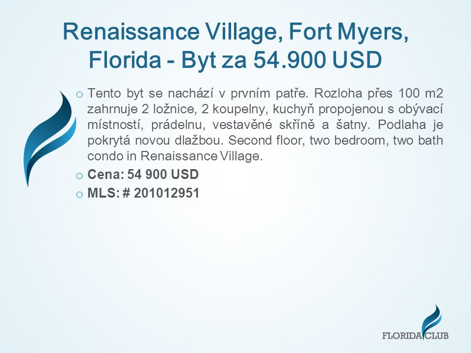 Renaissance Village, Fort Myers, Florida - Byt za 54.900 USD