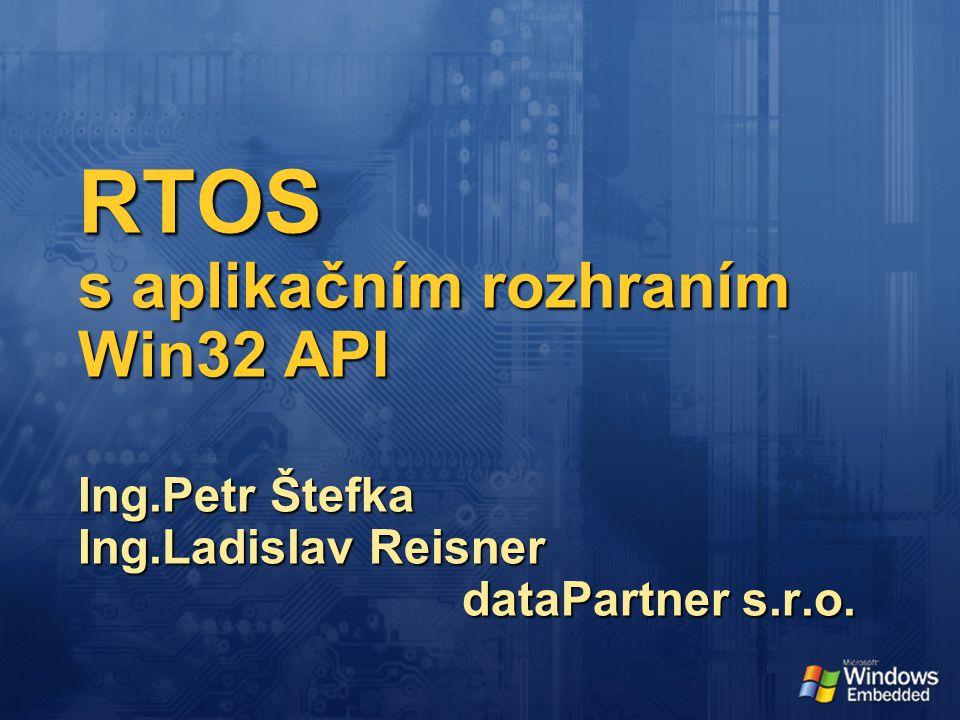 RTOS s aplikačním rozhraním Win32 API