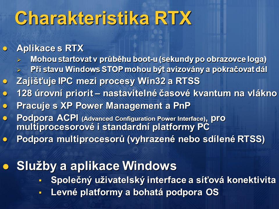 Charakteristika RTX Služby a aplikace Windows Aplikace s RTX