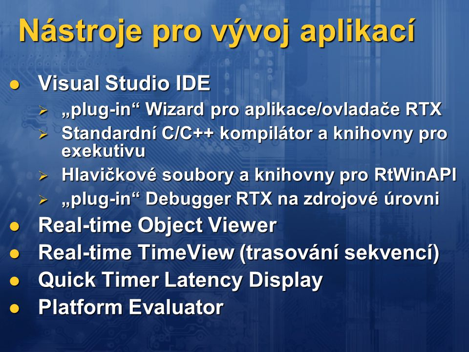 Nástroje pro vývoj aplikací