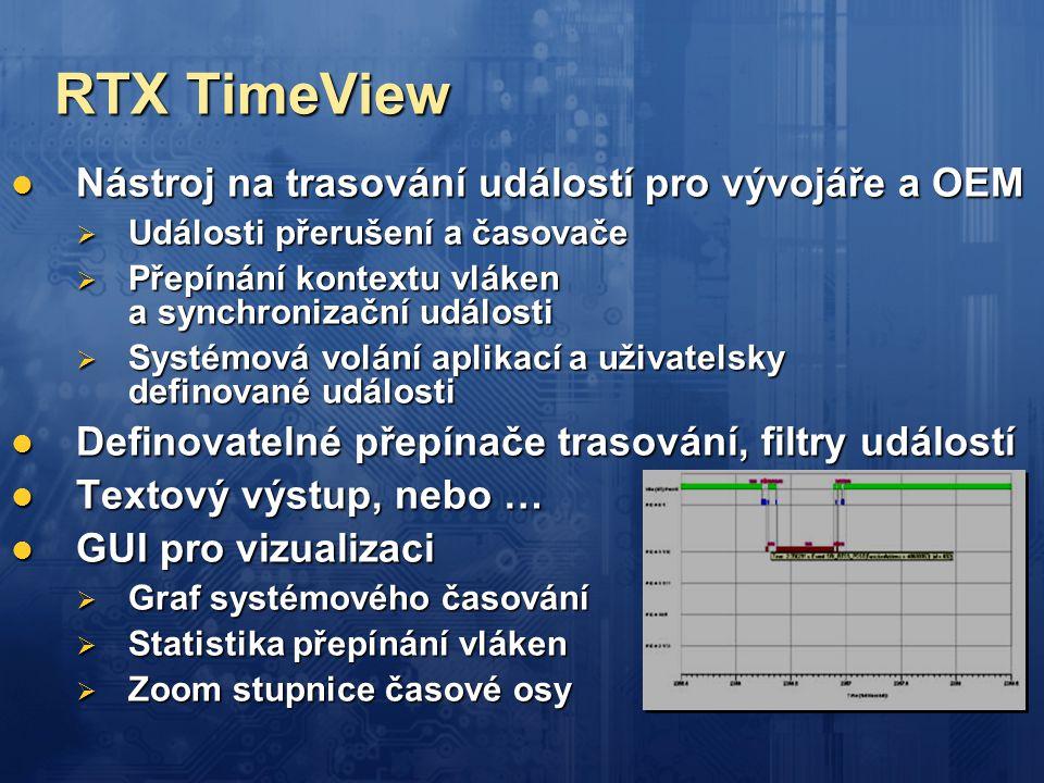 RTX TimeView Nástroj na trasování událostí pro vývojáře a OEM