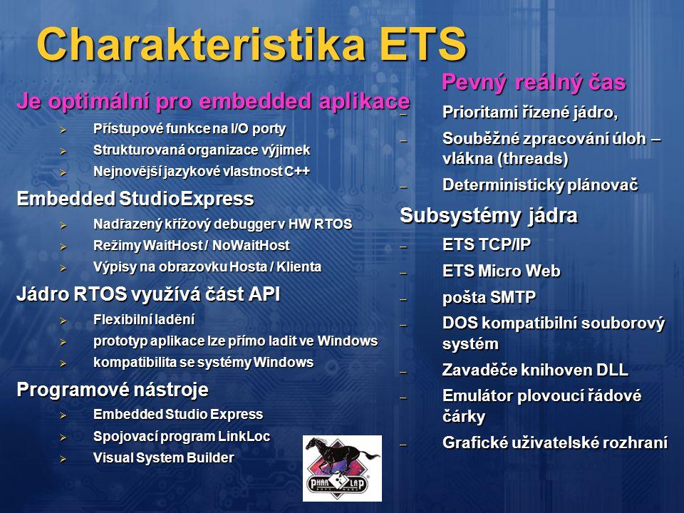 Charakteristika ETS Pevný reálný čas