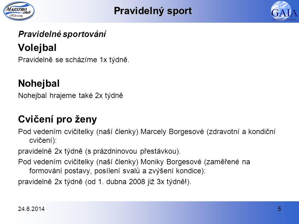 Pravidelný sport Volejbal Nohejbal Cvičení pro ženy