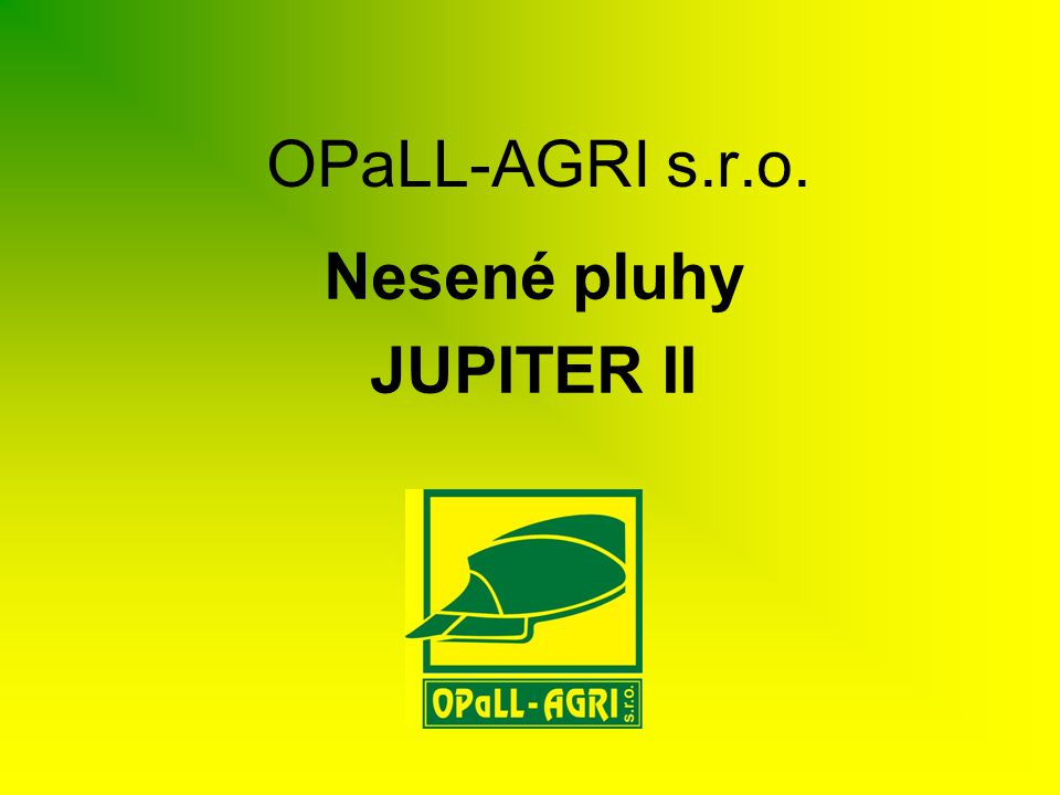 Nesené pluhy JUPITER II