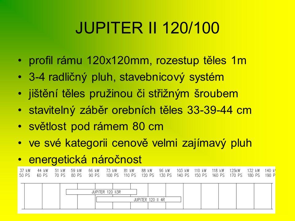JUPITER II 120/100 profil rámu 120x120mm, rozestup těles 1m