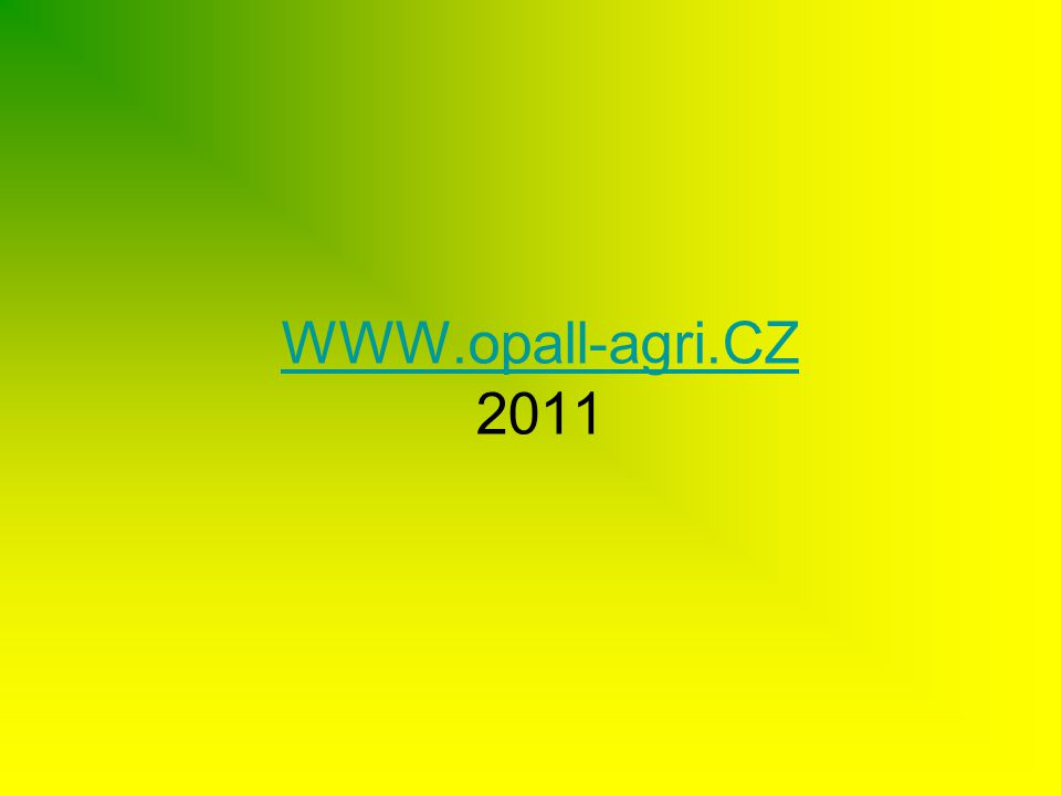 WWW.opall-agri.CZ 2011