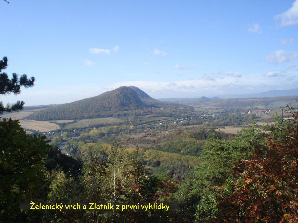 Želenický vrch a Zlatník z první vyhlídky