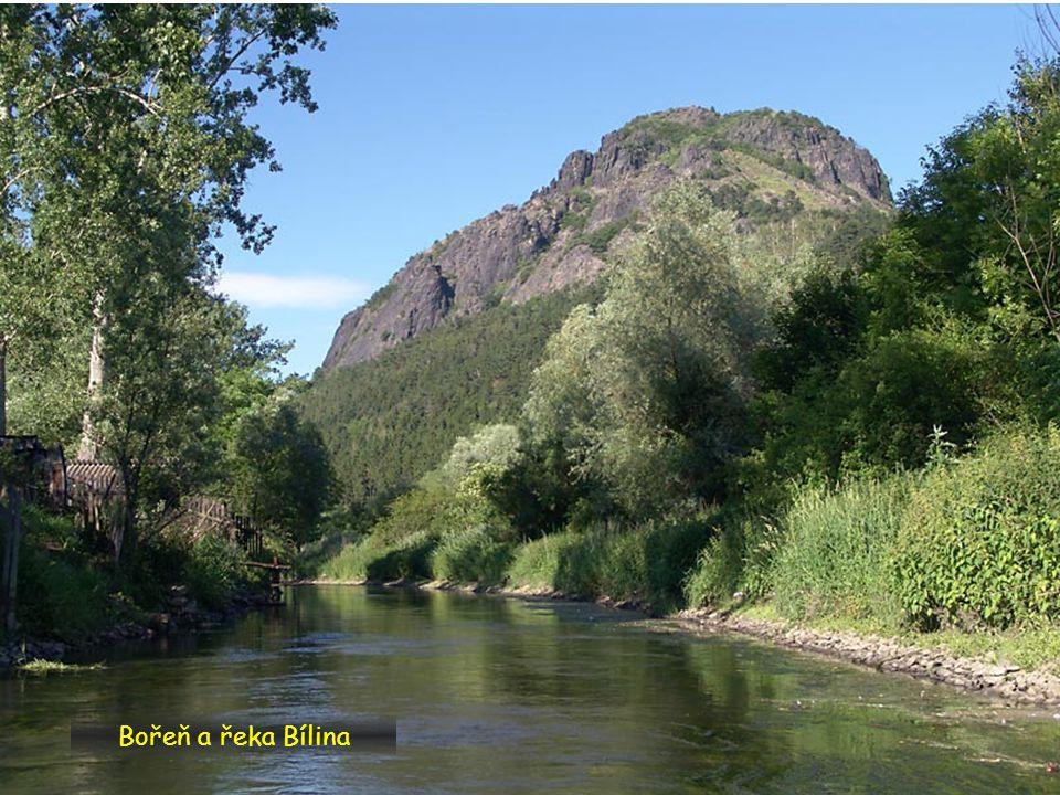 Bořeň a řeka Bílina