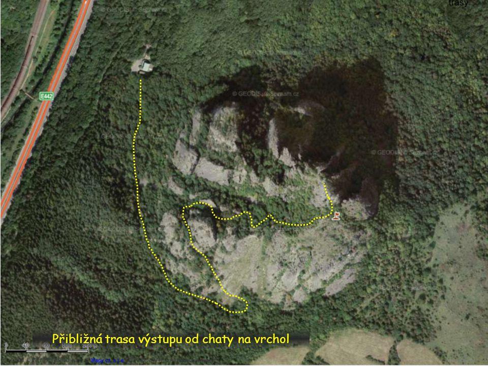 Přibližná trasa výstupu od chaty na vrchol
