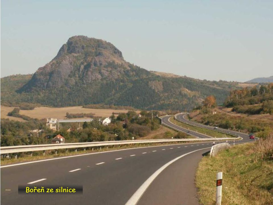 Bořeň ze silnice