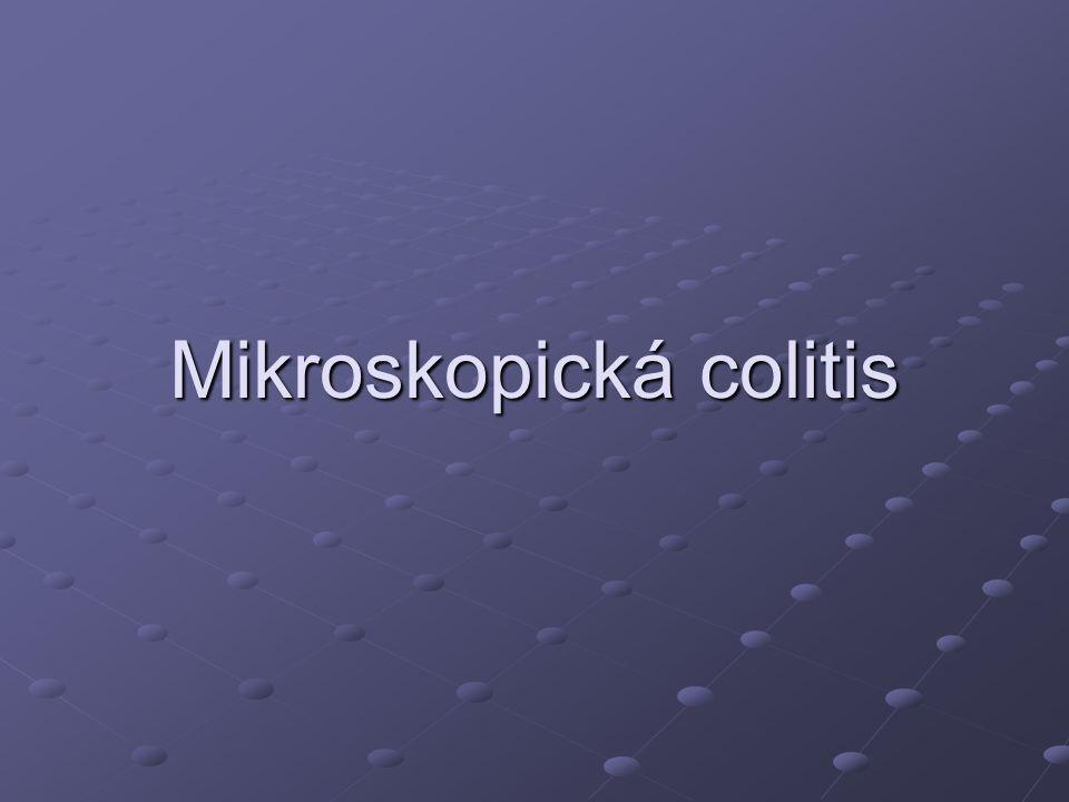 Mikroskopická colitis