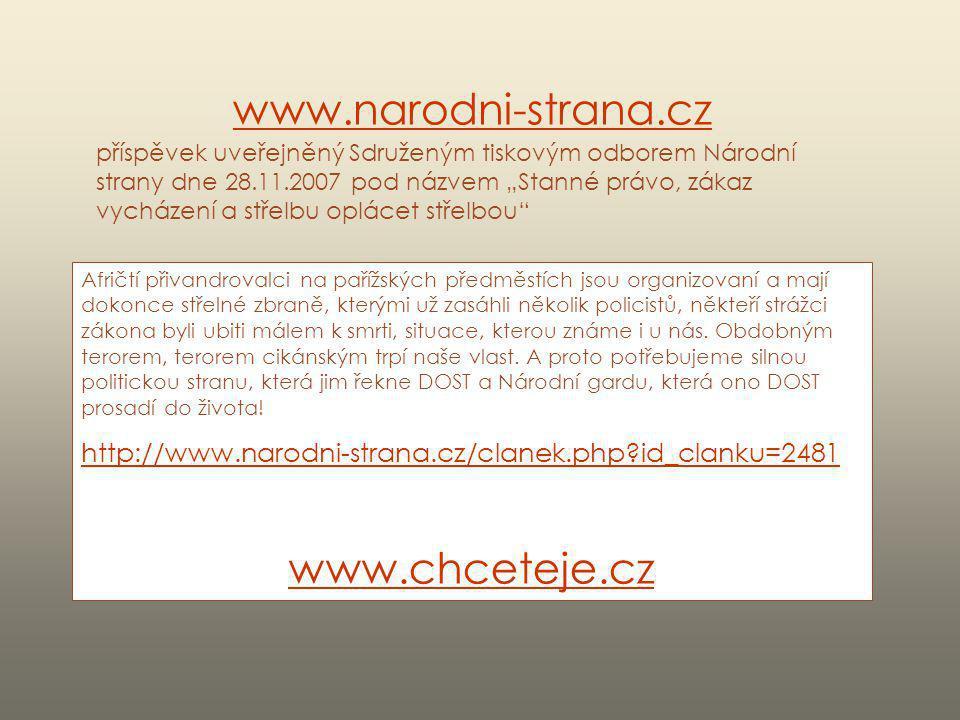 www.narodni-strana.cz www.chceteje.cz