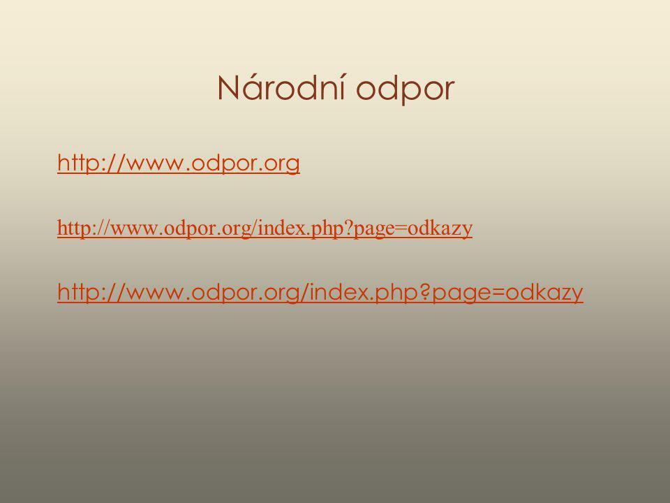 Národní odpor http://www.odpor.org