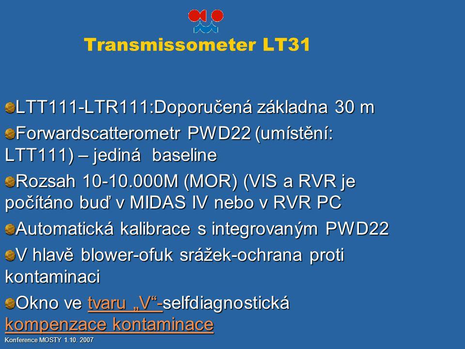 LTT111-LTR111:Doporučená základna 30 m