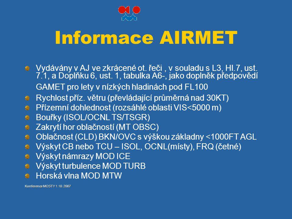 Informace AIRMET