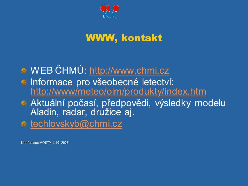 WEB ČHMÚ: http://www.chmi.cz