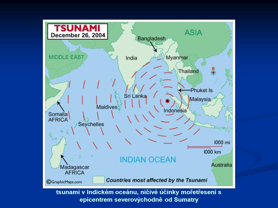 tsunami v Indickém oceánu, ničivé účinky mořetřesení s epicentrem severovýchodně od Sumatry