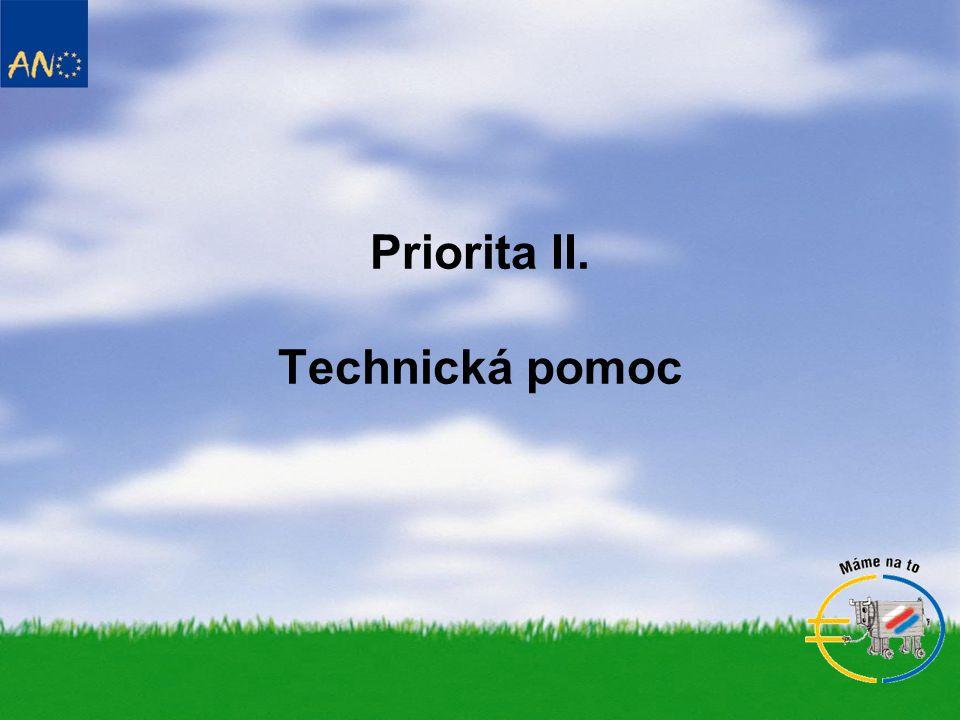 Priorita II. Technická pomoc