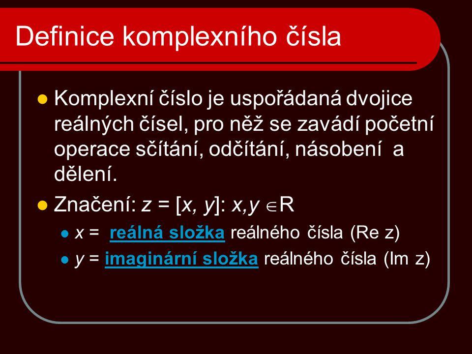 Definice komplexního čísla