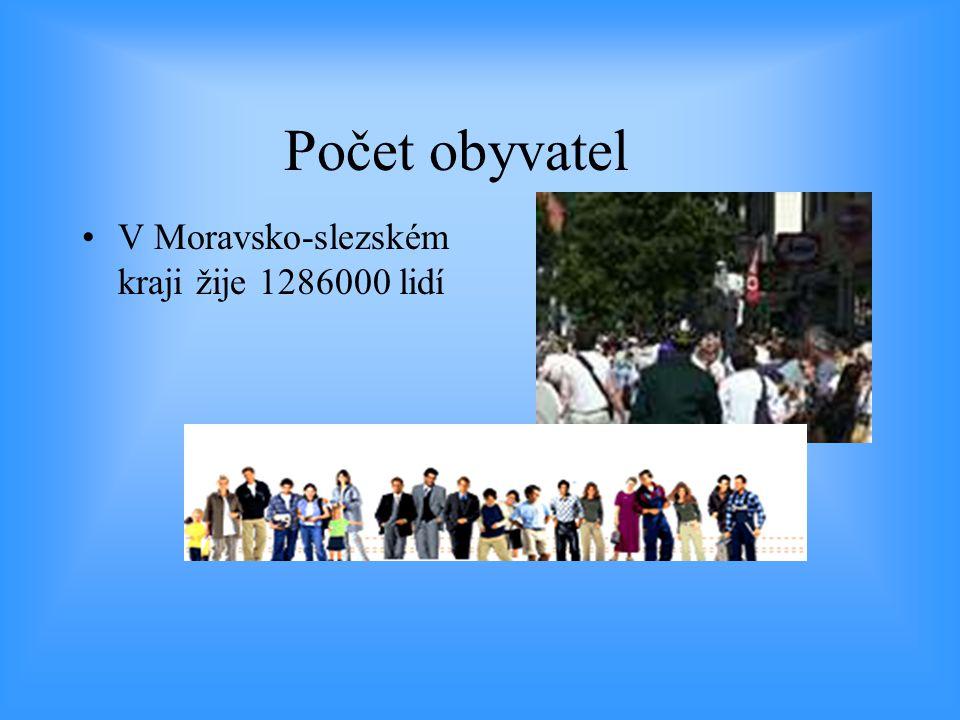 Počet obyvatel V Moravsko-slezském kraji žije 1286000 lidí