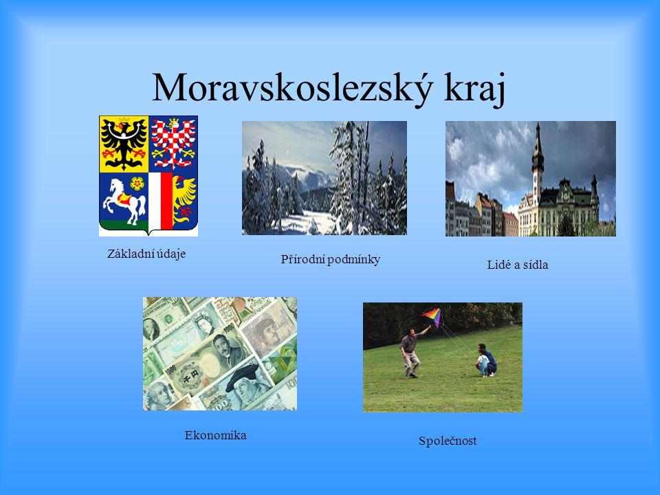 Moravskoslezský kraj Základní údaje Přírodní podmínky Lidé a sídla