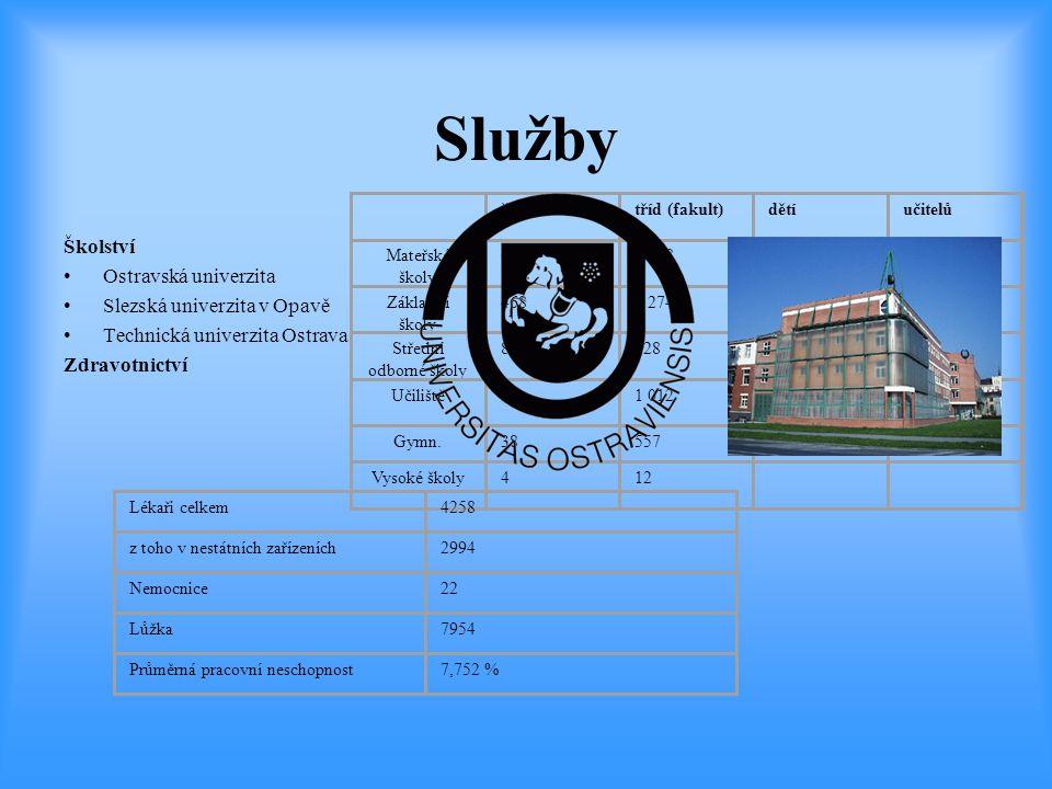 Služby Školství Ostravská univerzita Slezská univerzita v Opavě