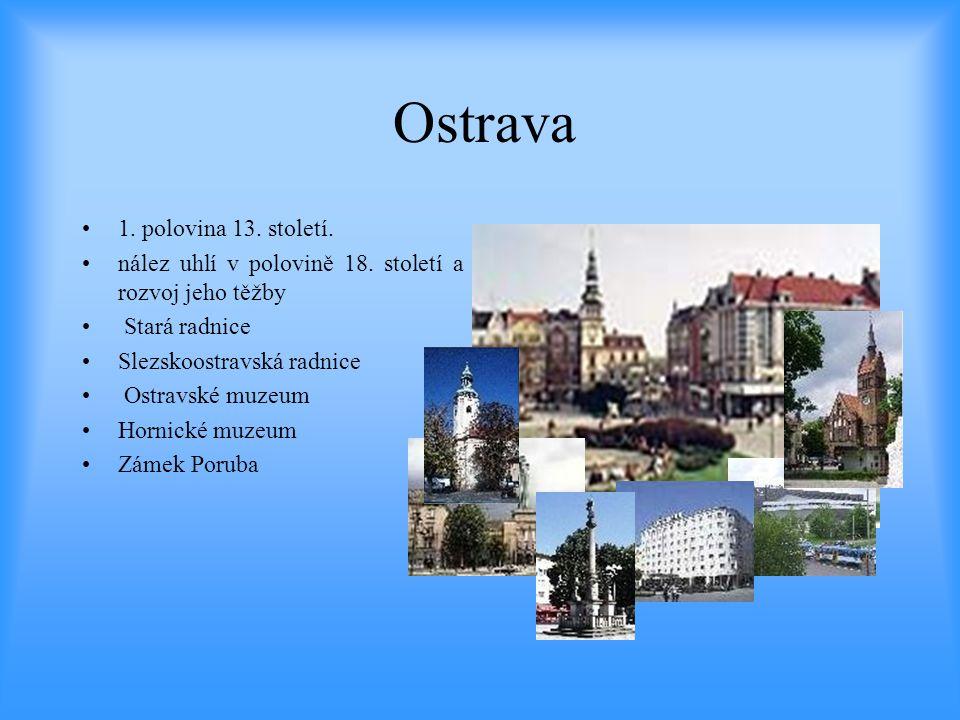 Ostrava 1. polovina 13. století.