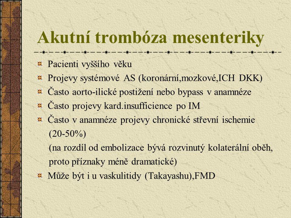 Akutní trombóza mesenteriky