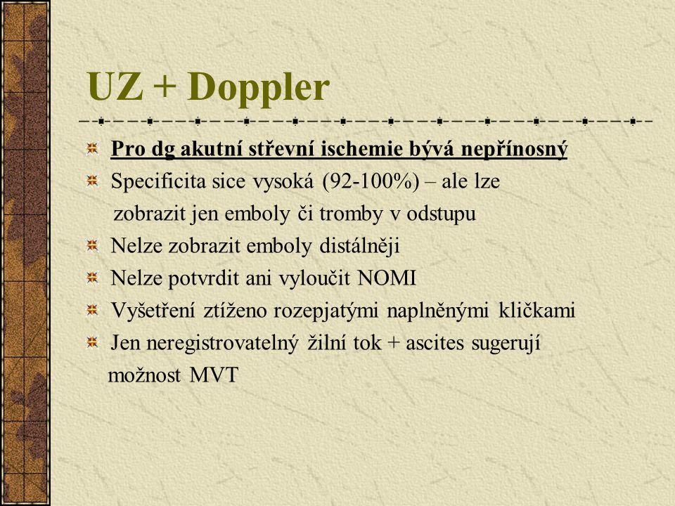 UZ + Doppler Pro dg akutní střevní ischemie bývá nepřínosný