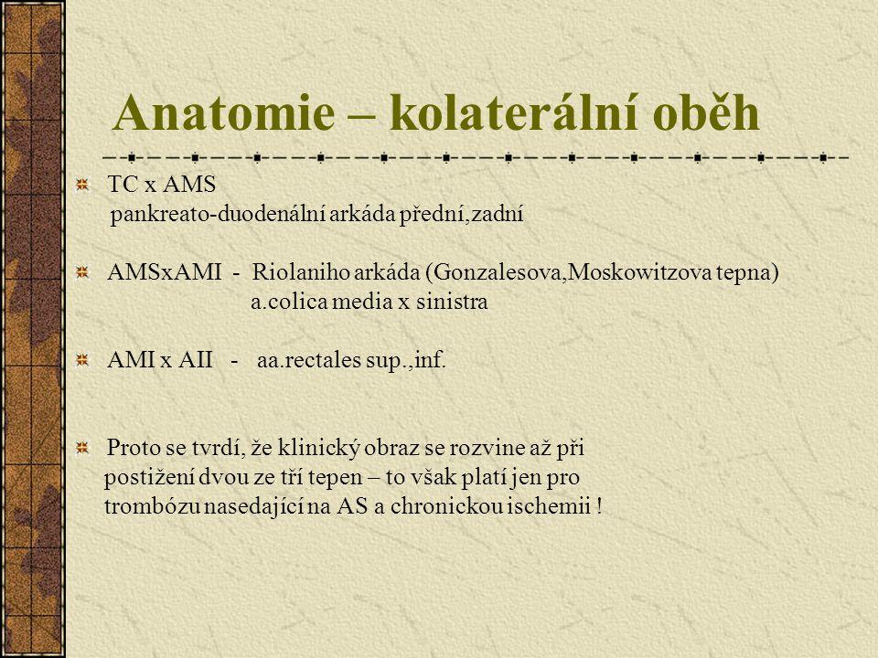 Anatomie – kolaterální oběh