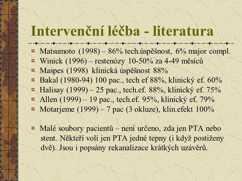Intervenční léčba - literatura