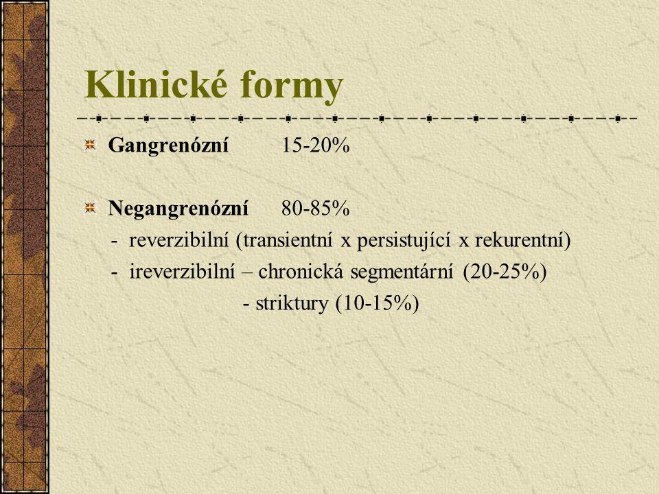 Klinické formy Gangrenózní 15-20% Negangrenózní 80-85%