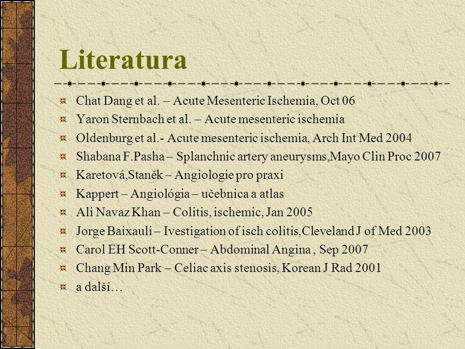 Literatura Chat Dang et al. – Acute Mesenteric Ischemia, Oct 06