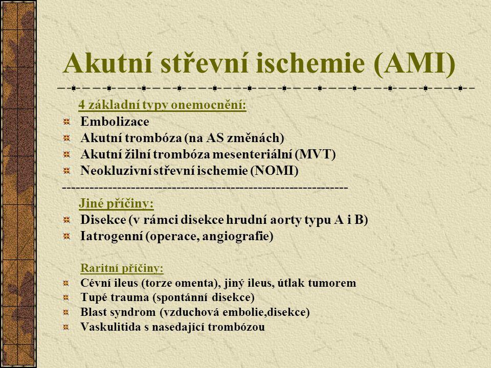 Akutní střevní ischemie (AMI)