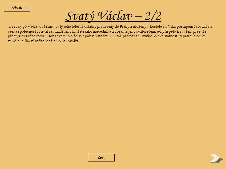 Obsah Svatý Václav – 2/2.