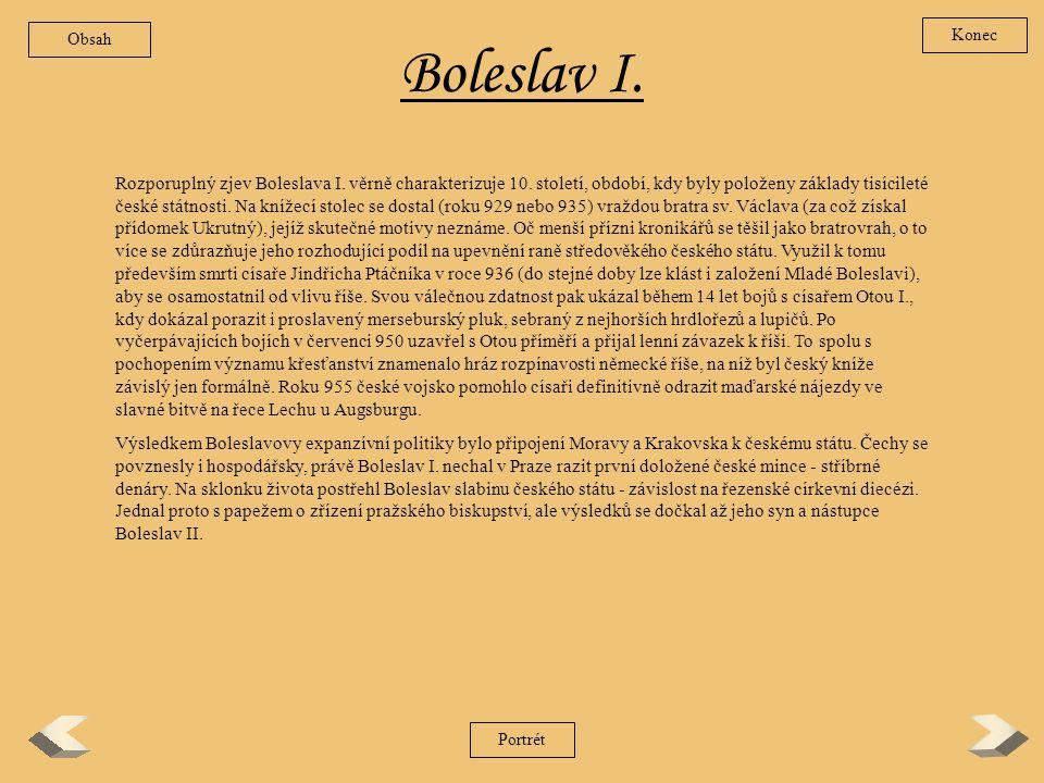 Obsah Konec. Boleslav I.
