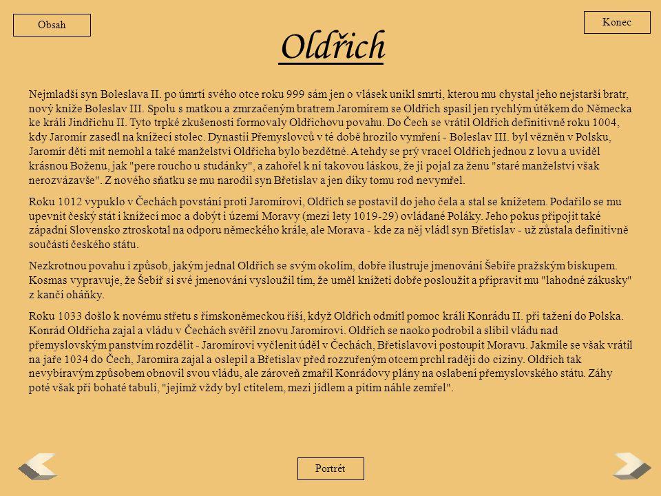 Obsah Konec. Oldřich.