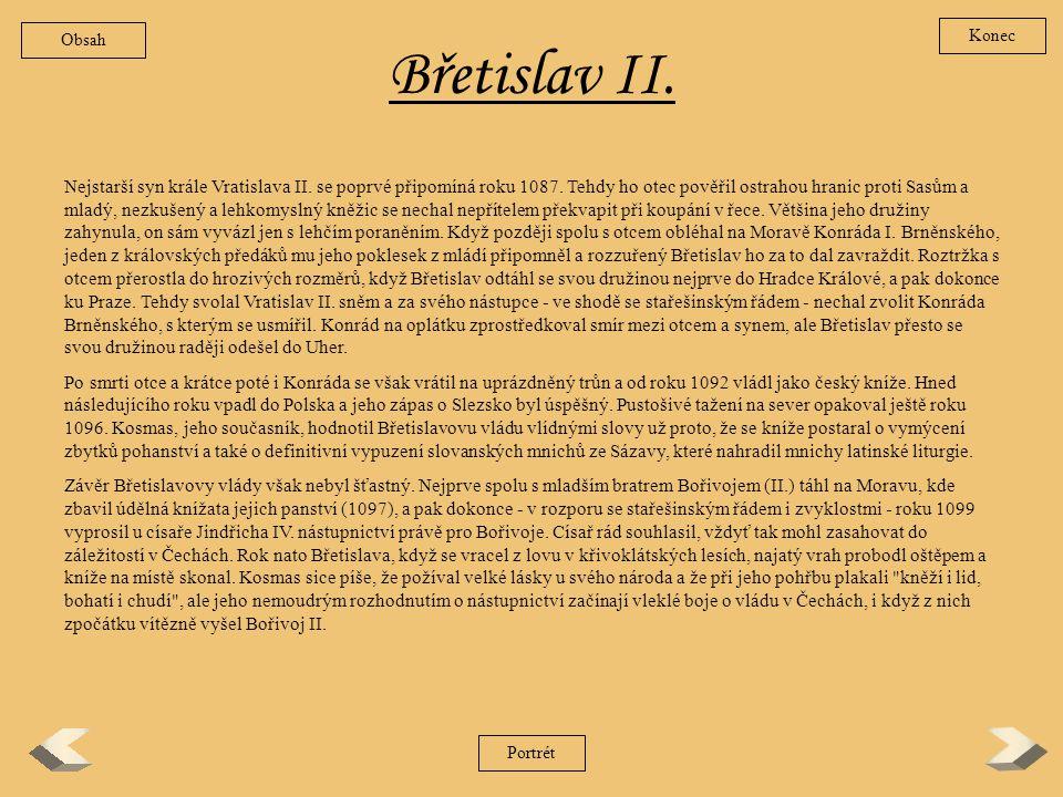 Obsah Konec. Břetislav II.