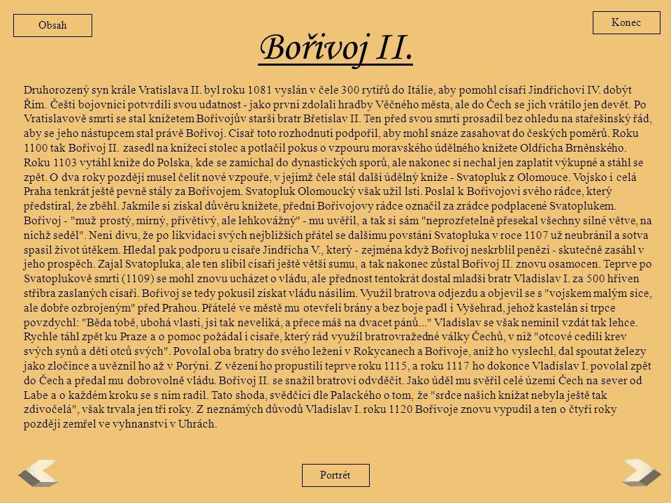 Obsah Konec. Bořivoj II.