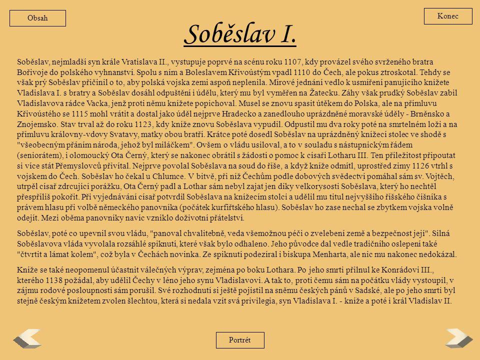 Obsah Konec. Soběslav I.