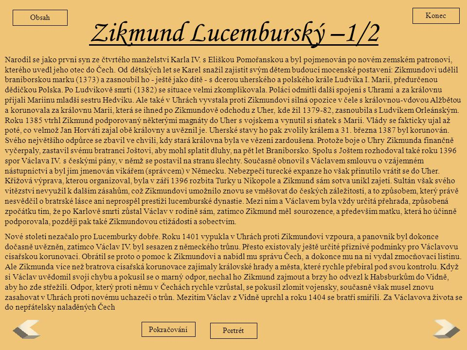 Zikmund Lucemburský –1/2